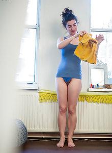 Naked amateur Livia V is secretly filmed by a hidden camera