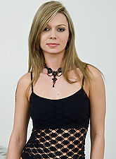 Blonde Samatha in black
